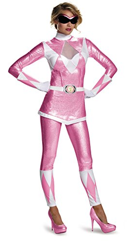 Disguise Women's Pink Ranger Bustier Costume, Pink, Large]()