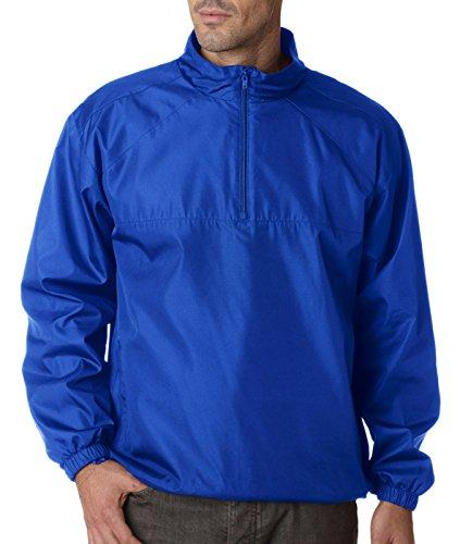 Ultraclub Adult Micro-Poly 1/4-Zip Windshirt, Royal, X-Large