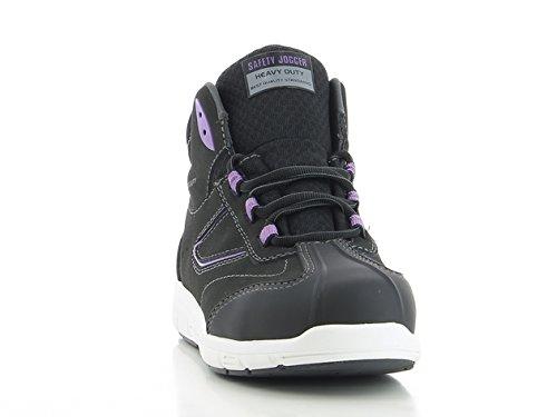 Zapatillas de Seguridad Dise?o de Beyoncé ascendentede Norma Especial S3, Negro (Noir et Lila), 38