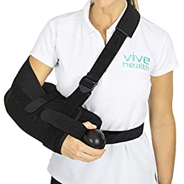 Vive Shoulder Abduction Sling – Immobilizer for Injury Support – pain Relief Arm Pillow for Rotator Cuff, Sublexion…