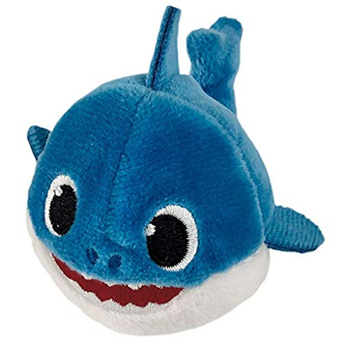 Pinkfong Baby Shark Mini Plush Daddy Shark - Fun Size Baby Shark Stuffed Beanie from Hit Song - Official Baby Shark Stuffed Animal Toy ()