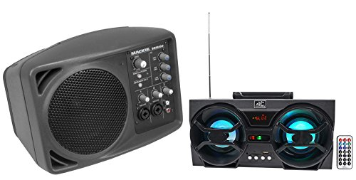 Mackie SRM150 Powered Active PA Monitor Speaker SRM-150+Free Bluetooth Speaker ! by Mackie