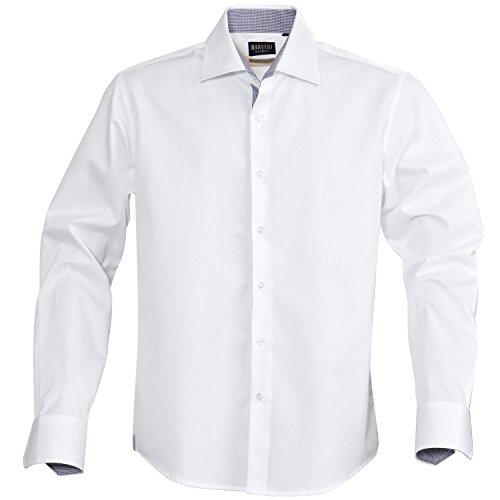 Haverst - Camisa formal de manga larga Modelo Baltimore 100% algodón Hombre Caballero - Trabajo/Fiesta/Verano Azul claro