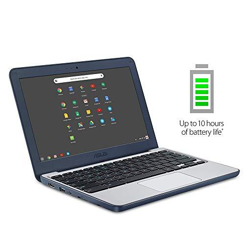 2020 Newest ASUS Chromebook 11.6 Inch Laptop for Business Student  Intel Celeron N3060 up to 2.48GHz  4GB LPDDR3 RAM  32GB eMMC  WiFi  Bluetooth  HDMI  Chrome OS + NexiGo 32GB MicroSD Bundle