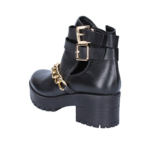 Leather Inuovo Black Boots Ankle Womens nRfqwfFA