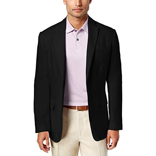 Tasso Elba Island Mens Linen Suit Separate Two-Button Blazer Black L