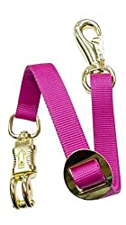 Adjustable Heavy Duty Trailer Tie Strap Panic Snap Bull Snap Horse Pony (Hot Pink)