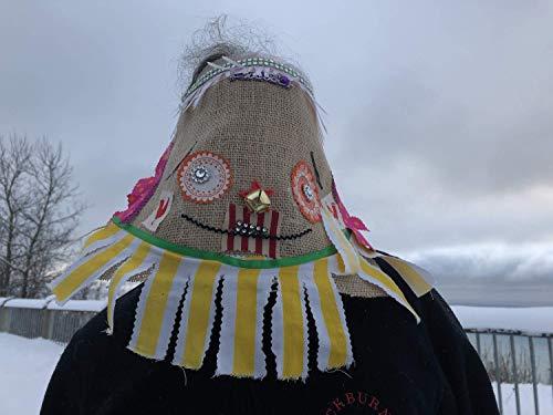 Cajun Fringe Costume, Courir de Mardi Gras Mask, traditional Mardi Gras costume, Adult Halloween Burlap Creepy mask, carnival masquerade mask ()