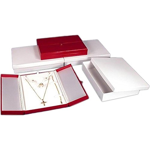 3 Necklace Earring Ring Red Leather Combo Jewelry Boxes