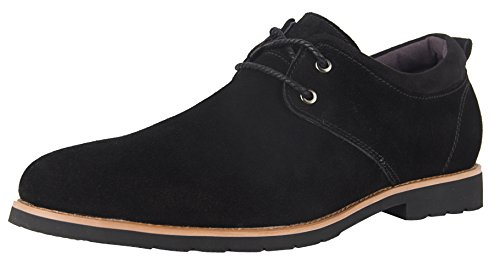 ic Dress Oxford Suede Leather Formal Shoe Black US Size 8.5 (Lace Up Suede Oxfords)
