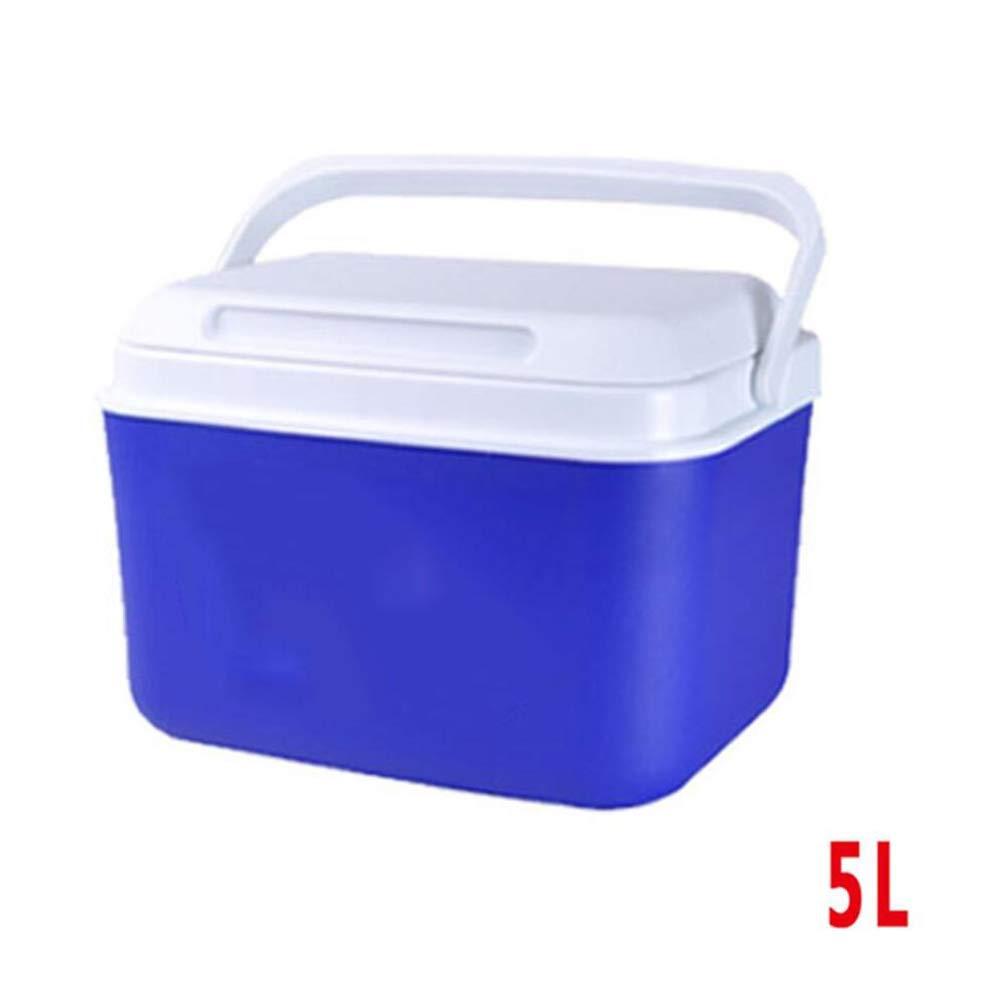Bleu 33L-42x24x45cm LIANGLIANG Glaciere Rigide Conservation De La Chaleur en Extérieur, Il Peut Déplacer La Poignée Petite Capacité élevée Multifonction Retenue Fraîcheur portable voiture Plastic, 2 Couleurs 9 T