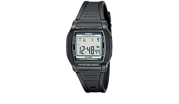 Casio W201-1AV - Reloj de Pulsera Hombre, Resina: Amazon.es: Relojes