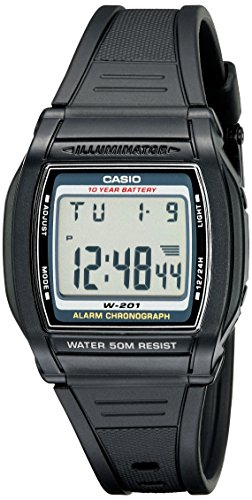 Casio Men's W201-1AV Chronograph Watch (Chrono Alarm Casio)