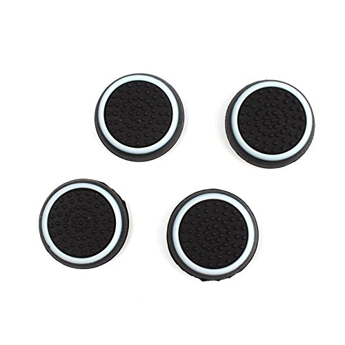 Cheap Eachbid 2 Pairs Thumb Stick Joystick Grip Controller For PS4 Black+White