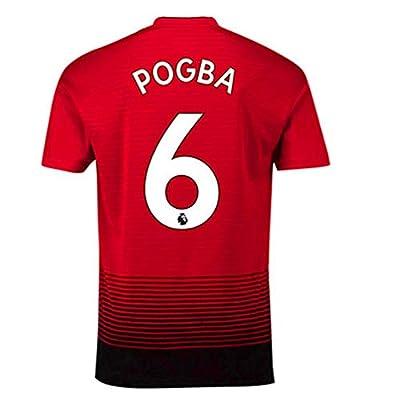 YTDL Manchester United Home Red Soccer Jerseys 2018/2019 Season #6 Pogba Mens Soccer Jerseys