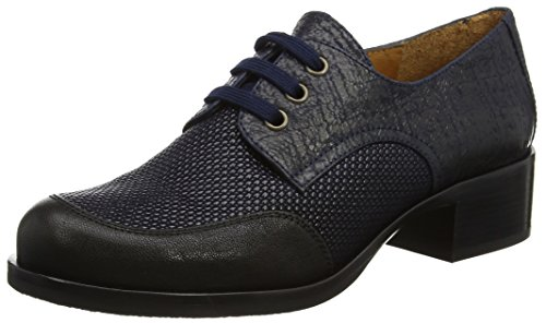 Chie Mihara Dames Viajero Lace Up Brogues Multicolour (torrent Negro Savile Marine)