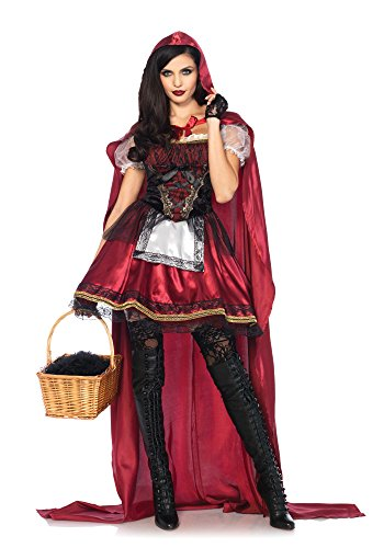 Leg Avenue Women's Red Riding Hood Costume, Burgundy, (Red Riding Hood Womens Costumes)