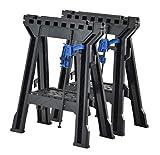 Muscle Rack FSHL-2PK Heavy Duty Folding Sawhorses, Plastic