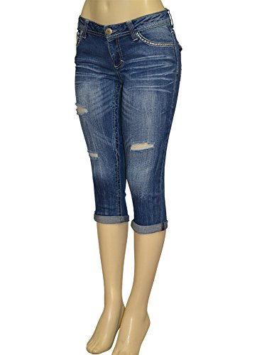 Alfa Global Junior's Low Rise Skinny Denim Capri Pants Size - Low Capri Rise Pants