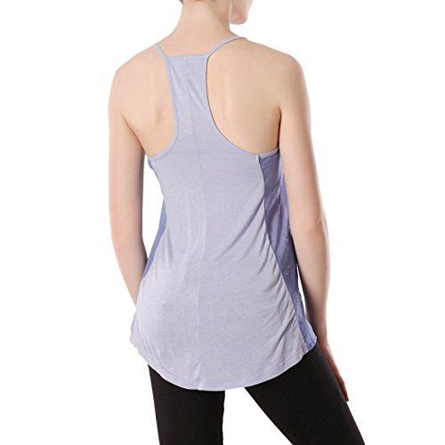 La Modeuse-Camiseta sin mangas de líquido y transparente morado