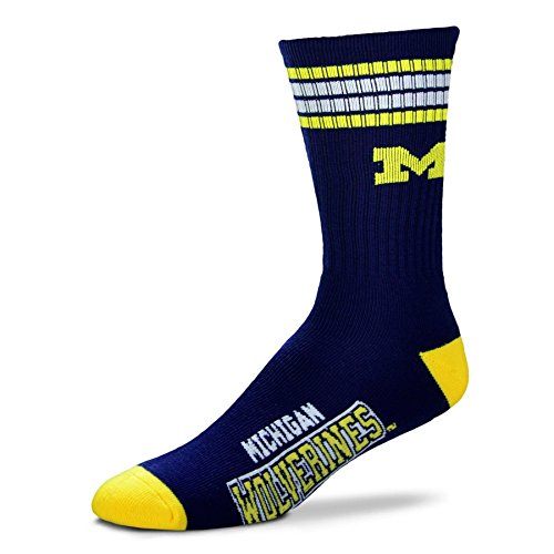 NCAA 4 Stripe Deuce Socks - Men's Large (fits 10-13)