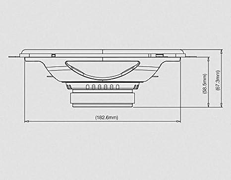 152mm x 230mm 6x9 JBL Club 9630 Altavoces de Coche Color Negro
