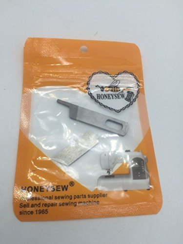 Singer Serger Machine Upper & Lower Knives #412585 & 412749 Fits Pro4D most 14u (Pfaff Serger)