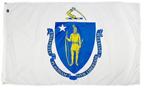 - FlagSource Massachusetts Nylon State Flag, Made in The USA, 3x5'