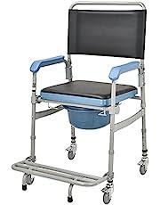Rotary sits, gammal man toalett rullstols mobil toalettstol demonterad vikbar sittande pall-631a