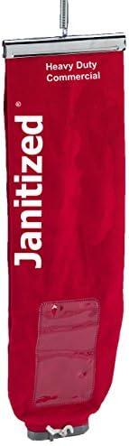 Janitized JAN-IVF167-CN-RD Premium Replacement Commercial Vacuum Paper Bag, Clarke 300 and 400, Eureka/Sanitai