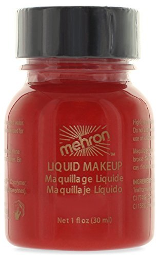 Mehron Liquid Face Paints - Red R (1 (Beauty Geek Costume Ideas)