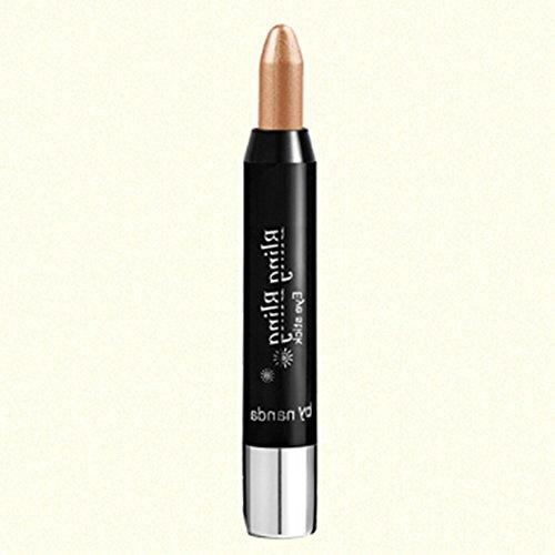 Spritech(TM) impermeable maquillaje profesional sombras de ojos Eyeliner belleza herramienta marrón Beige