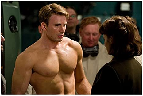 Chris Evans 8x10 Photo Steve Rogers Captain America Shirtless Wlo At Amazon S Entertainment Collectibles Store