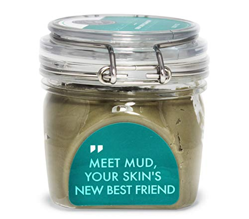 Dead Sea Mud Clay Mask - Purify Toxins & Impurities from Congested, Acne Skin (200g / 7 fl oz) INCLUDES Sanitary Spatula - Minimize Pores, Blemishes & Wrinkles - Gift Idea ()