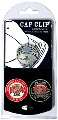 Store Maryland Terps - Team Golf NCAA Maryland Terrapins Golf Cap Clip with 2 Removable Double-Sided Enamel Magnetic Ball Markers, Attaches Easily to Hats