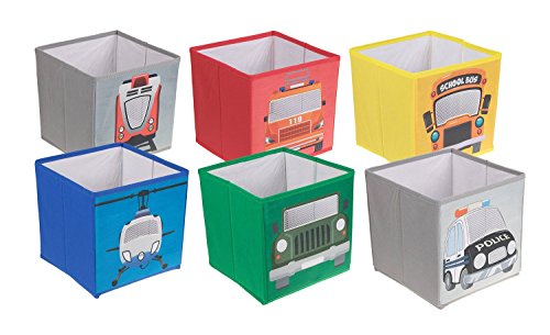 6 Pack Kids Vehicle Themed Toy Storage Organizers by Clever