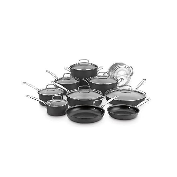 Cuisinart Chef's Classic Non-Stick Hard Anodized, 17 Piece Set, Black 1