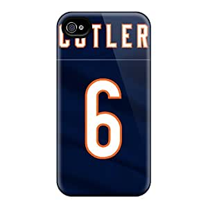 Anti-Scratch Cell-phone Hard Covers For Iphone 4/4s (etF16546rROj) Custom Lifelike Chicago Bears Pattern