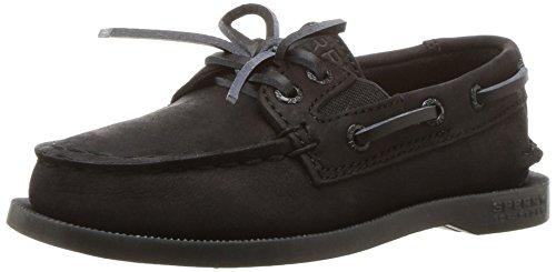 Sperry Athletic Boat Shoes - Sperry Authentic Original Slip On Boat Shoe (Toddler/Little Kid/Big Kid), Black, 12 M US Little Kid