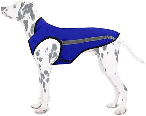 Chaqueta de invierno para perros forro de franela desmontable abrigo para perros cuello ajustable y tamaño de pecho pequeños medianos grandes 1