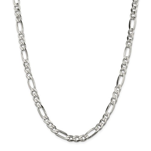 Sterling Silver 6.5mm Figaro Chain by JOlivers
