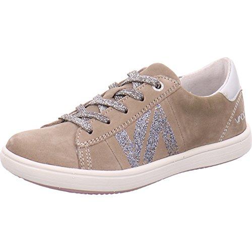 Vado  54503 412, Chaussures de ville à lacets pour fille beige gris