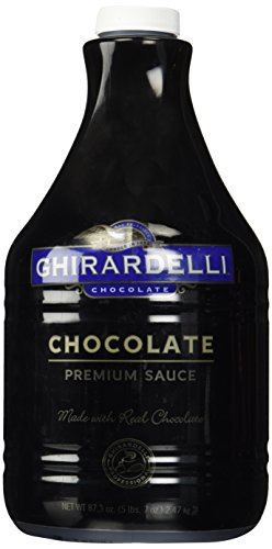 Ghirardelli Chocolate Flavored Sauce, Chocolate, 87.3-Ounce Packages (Fat Chocolates Free)
