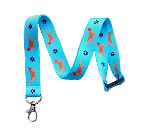 Retriever Print (Golden Retriever Dog Breed Print Break Away Lanyard Key Chain Id Badge Holder)