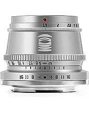TTArtisan 35mm F1.4 handmatige focus vaste lens, compatibel met Nikon Z-mount Z5 Z6 Z6II Z7 ZFC spiegelloze camera's (silver)