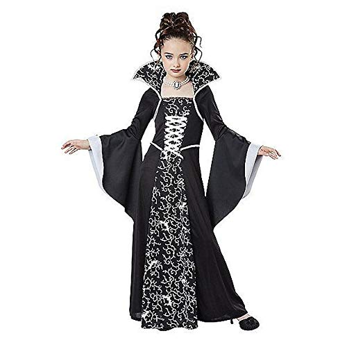 Midnight Vampire Costume (FORyou Halloween Girl Costumes Royal Vampire Child Costume Dress Court Dress Witch Outfits Party Cosplay (120cm,)