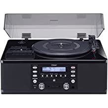 Teac LP-R660USB-PB Lp-Cassette to CD Recorder/USB Home Theater Receiver, Black