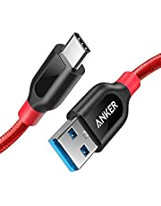 Anker PowerLine+ USB-C to USB 3.0 cable (3ft/0.9m), High Durability, for USB Type-C Devices, for Samsung Galaxy S10, S9, MacBook, Sony XZ, LG, V20, G5, G6, HTC 10, Xiaomi 5 & More