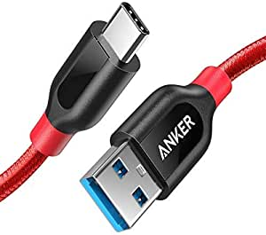 USB Type C Cable, Anker Powerline+ USB C to USB 3.0 Cable (3ft), High Durability, for Samsung Galaxy Note 8, S8, S8+, S9, MacBook, Sony XZ, LG V20 G5 G6, HTC 10, Xiaomi 5 and More