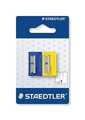 STAEDTLER 510 50 BK2 – Afilalápices De Plástico. Pack Con 2 Sacapuntas De Colores.